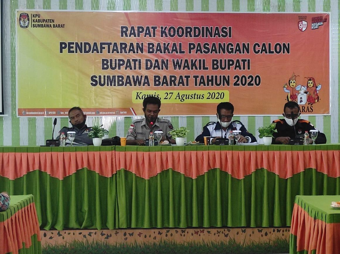 Rapat Koordinasi Pendaftaran Bakal Pasangan Calon Bupati dan Wakil Bupati Tahun 2020